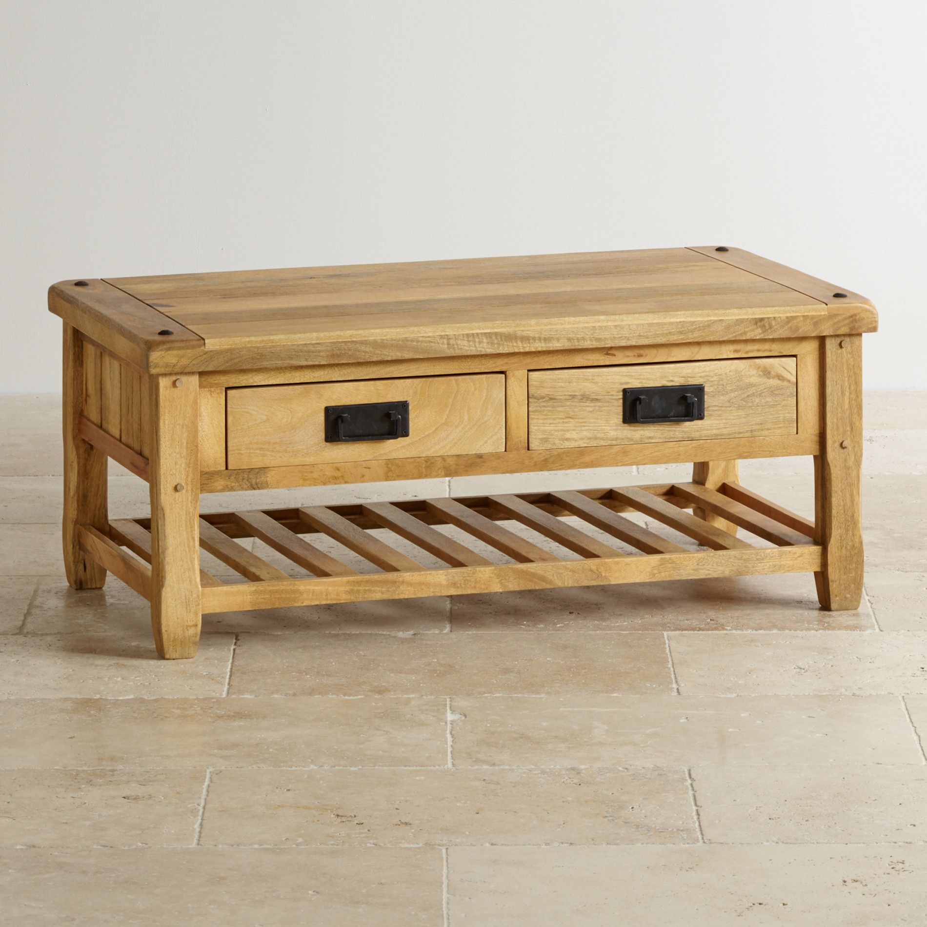 Baku light natural solid mango 4 drawer coffee table drawers baku light natural solid mango 4 drawer coffee table geotapseo Image collections