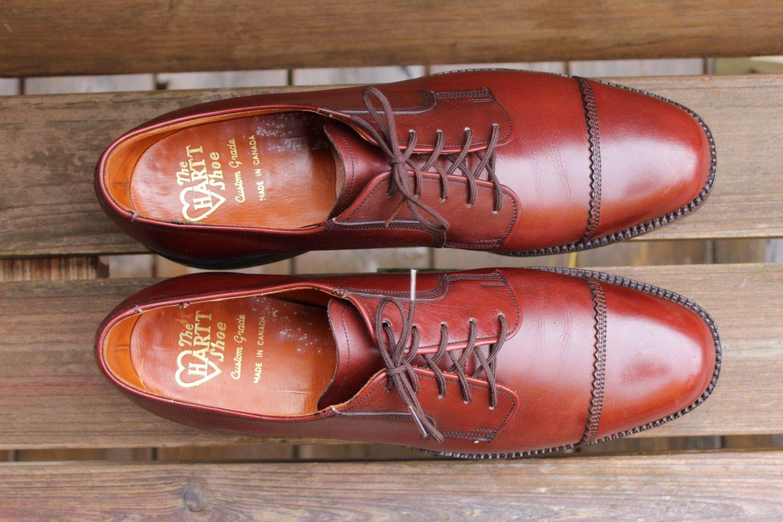 Vintage 1980s The Hartt Shoe Captoe Gunboat Etsy Goodyear Welt Shoes Dress Shoes Men