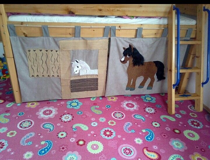 Bett Vorhang Planen : Stall vorhang fürs hochbett selfmade hochbetten