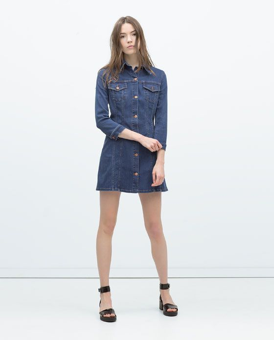 44e59cc8 Image 1 of Denim Dress from Zara | fashion & style | Womens denim ...