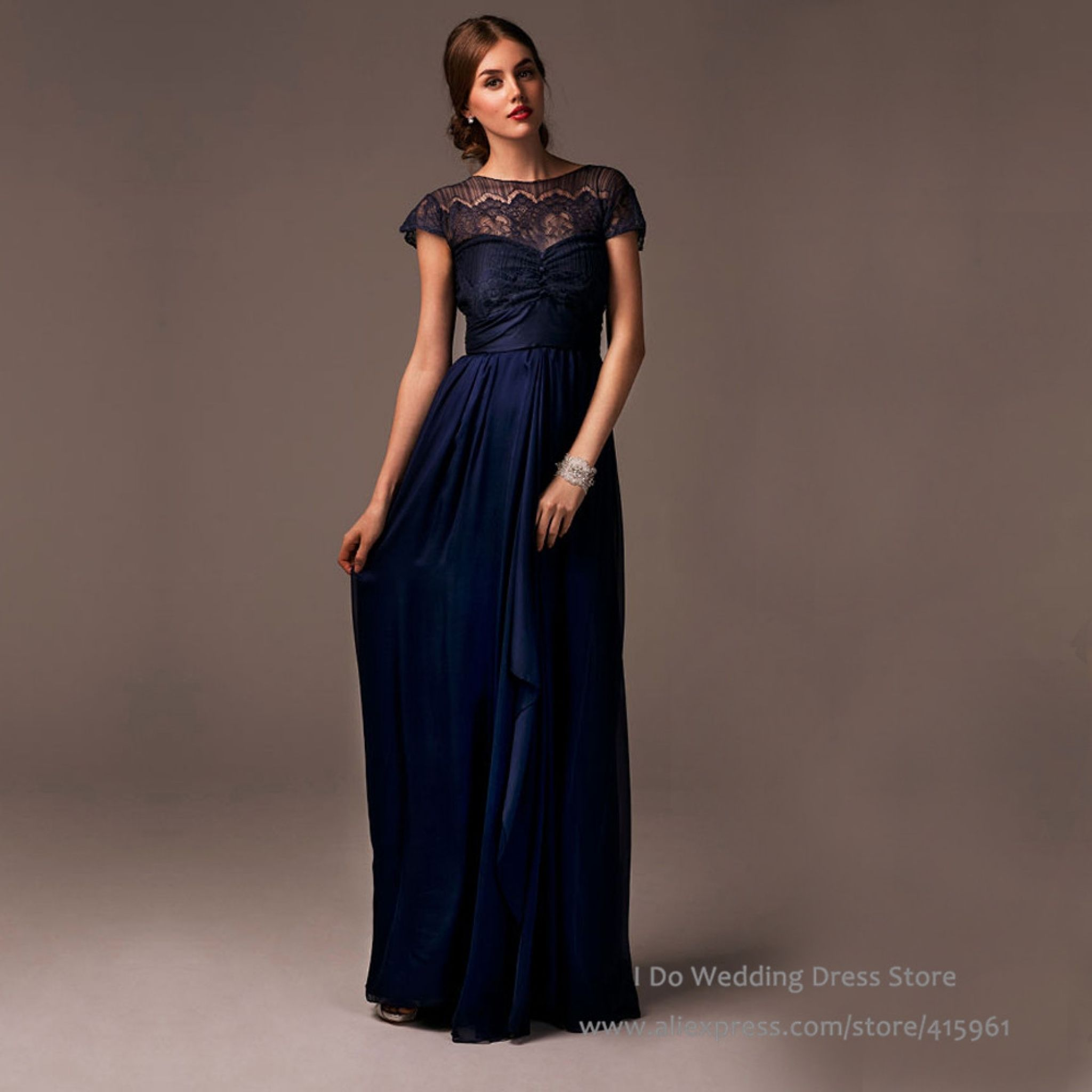 navy blue dress for wedding - dress for country wedding guest Check ...