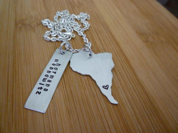 LDS SOUTH AMERICA Missionary necklace A by aLizardwithaLadder
