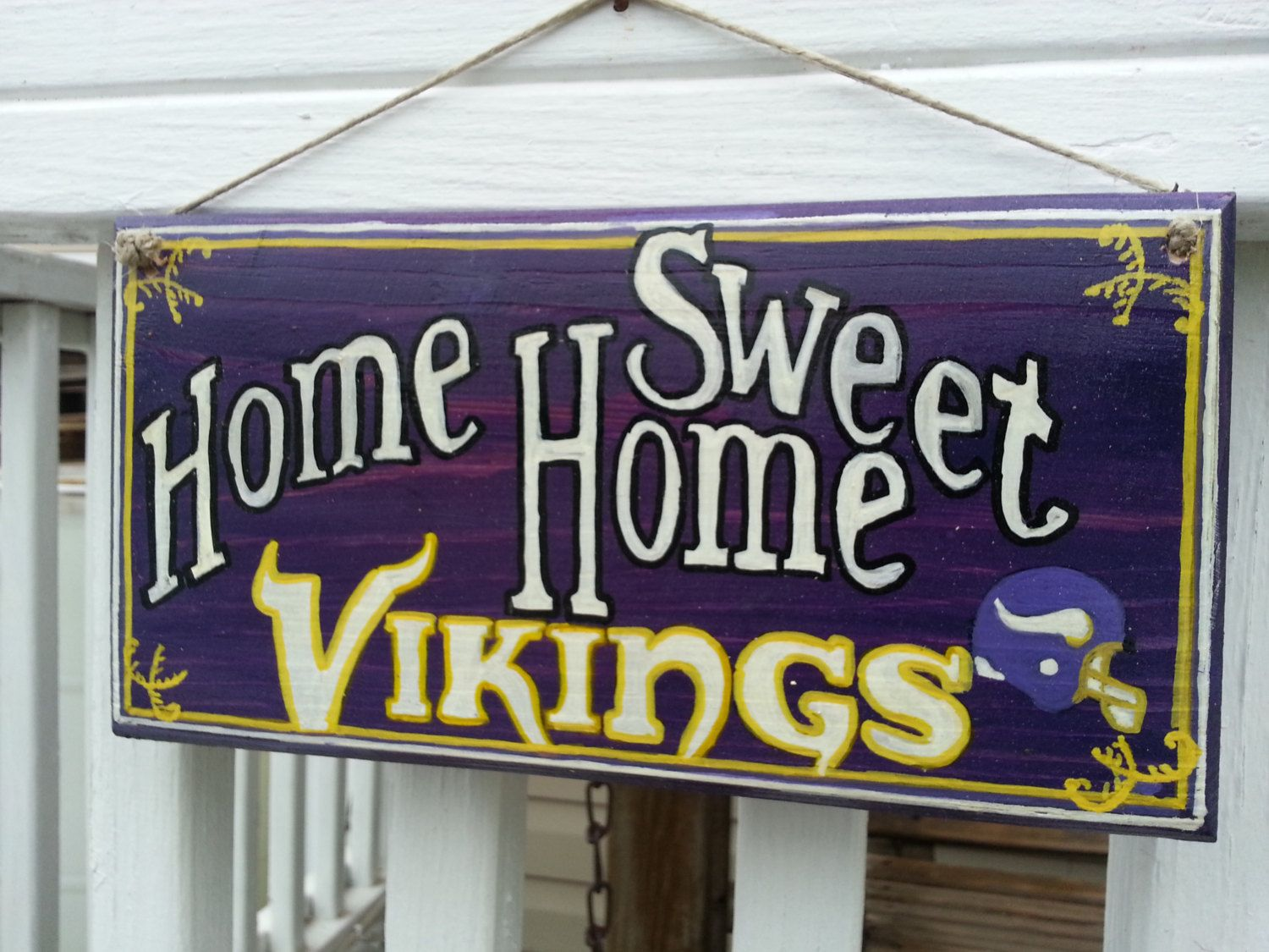 Vikings NFL Football sign Home Sweet Home by TeesTransformations, $18.00
