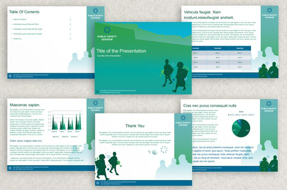 Public Safety Powerpoint Presentation Template  Packaging