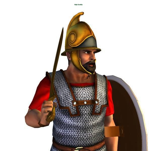 Carthaginian soldier from the days of Hannibal.