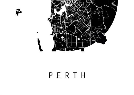 Perth map australia map world map maps black and white map perth map australia map world map maps black and white gumiabroncs Gallery