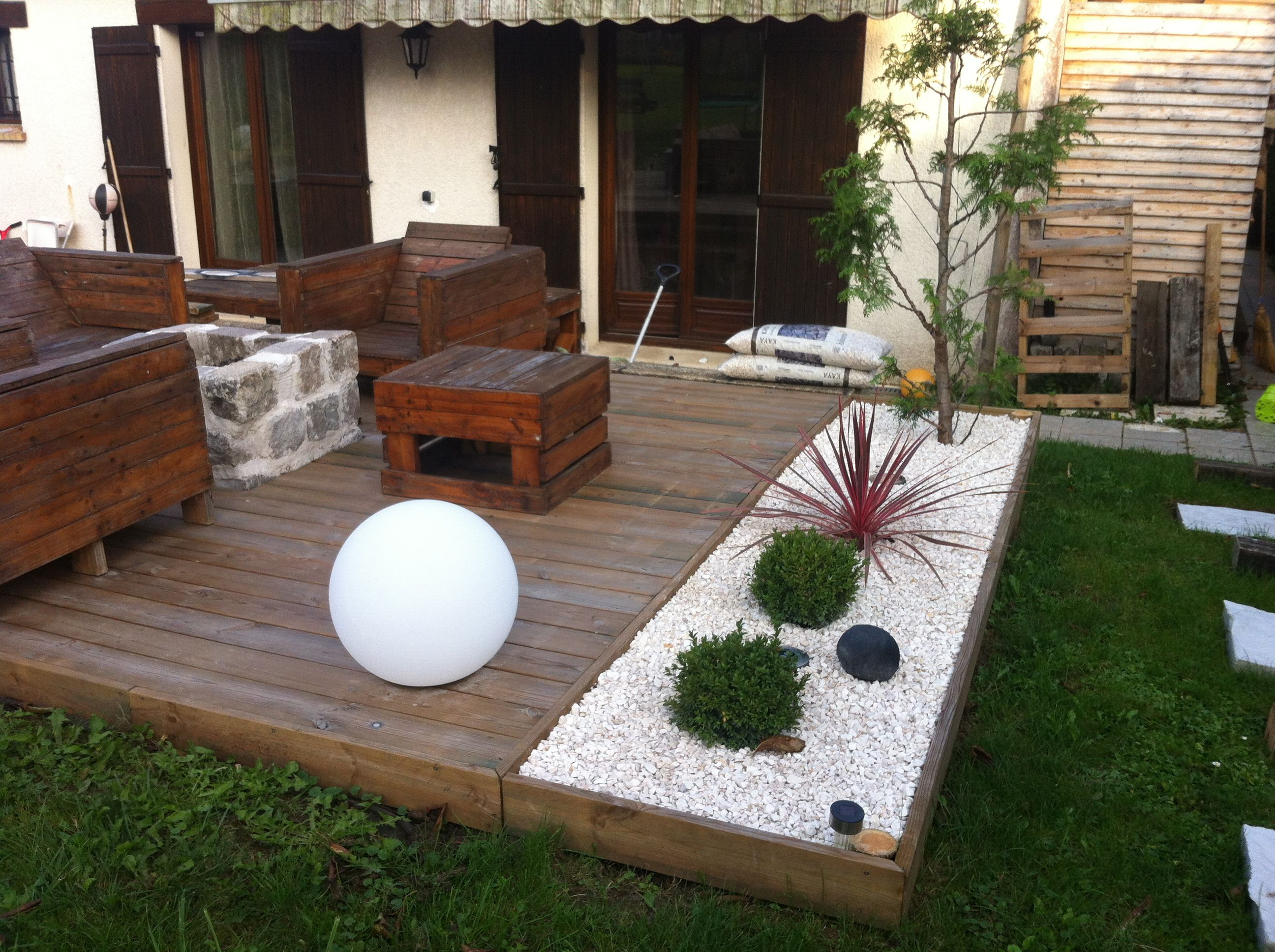 Am nagement d 39 une terrasse brasero instructions for Jardin deco