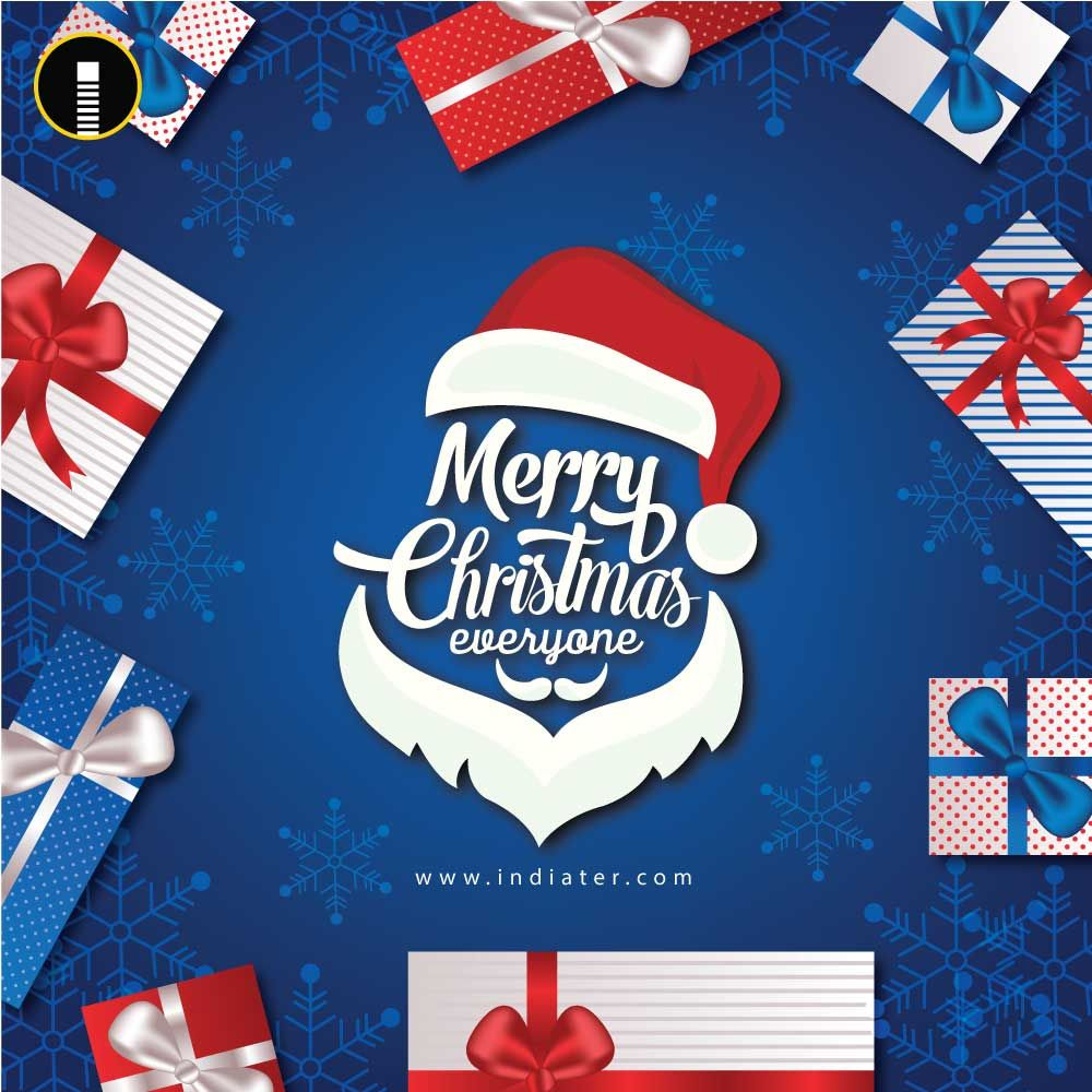 The Best Wishes For Merry Christmas Greeting Design