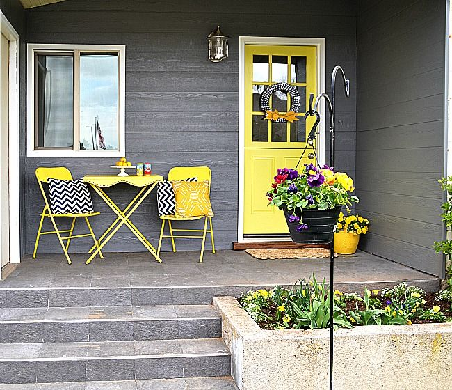 Small Front Patio Design Ideas: Summer Front Porch Decorating Ideas