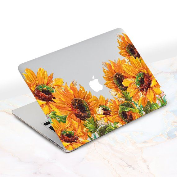 pretty nice 10ed4 7e9c7 Floral MacBook Case Sunflowers Laptop Case Macbook 12 Cover New ...