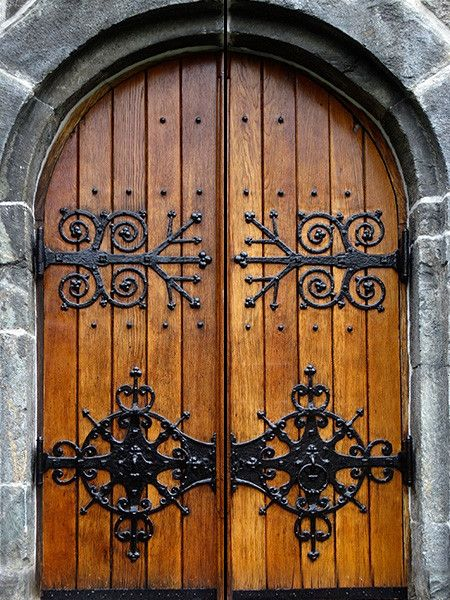 Photo of by Pulaton: Set of 2 Castle Door Murals for Double Doors, 30″x80″