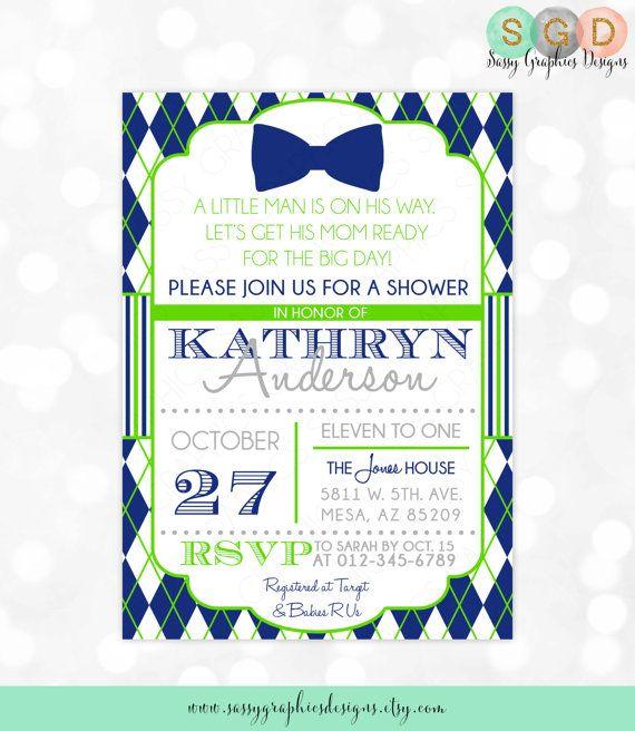 Little Man Baby Shower Invitation Boy By Sassygraphicsdesigns Baby