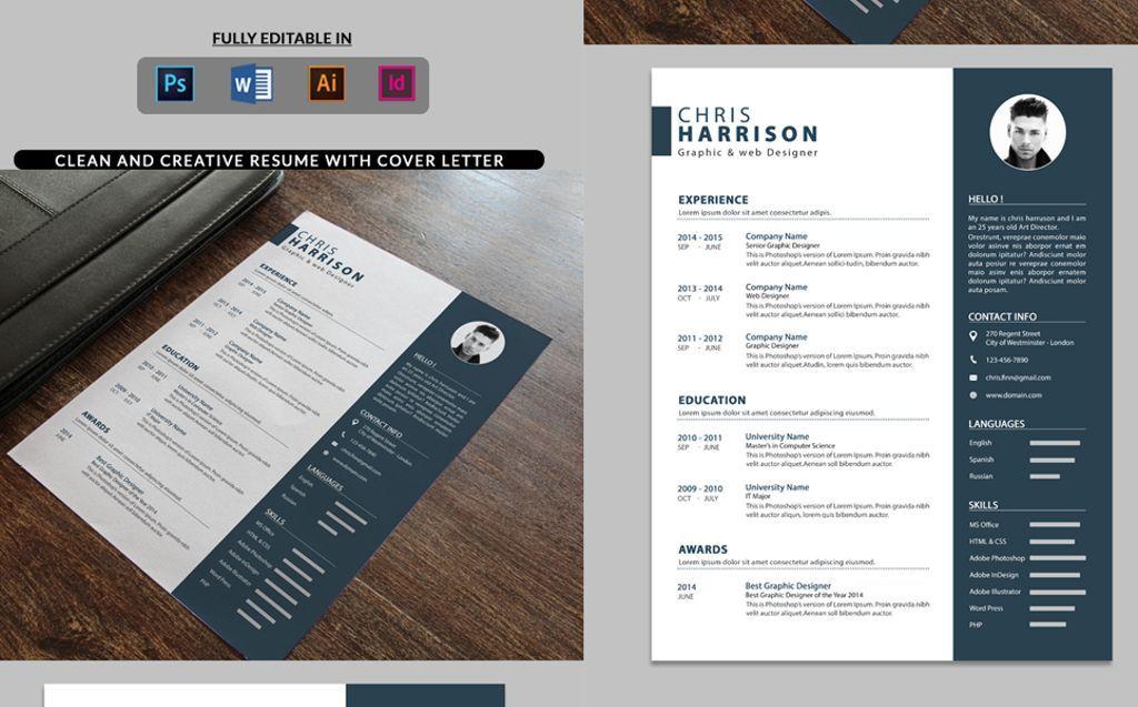 Chris Harrison - Graphic Designer Resume Template Templates Modern