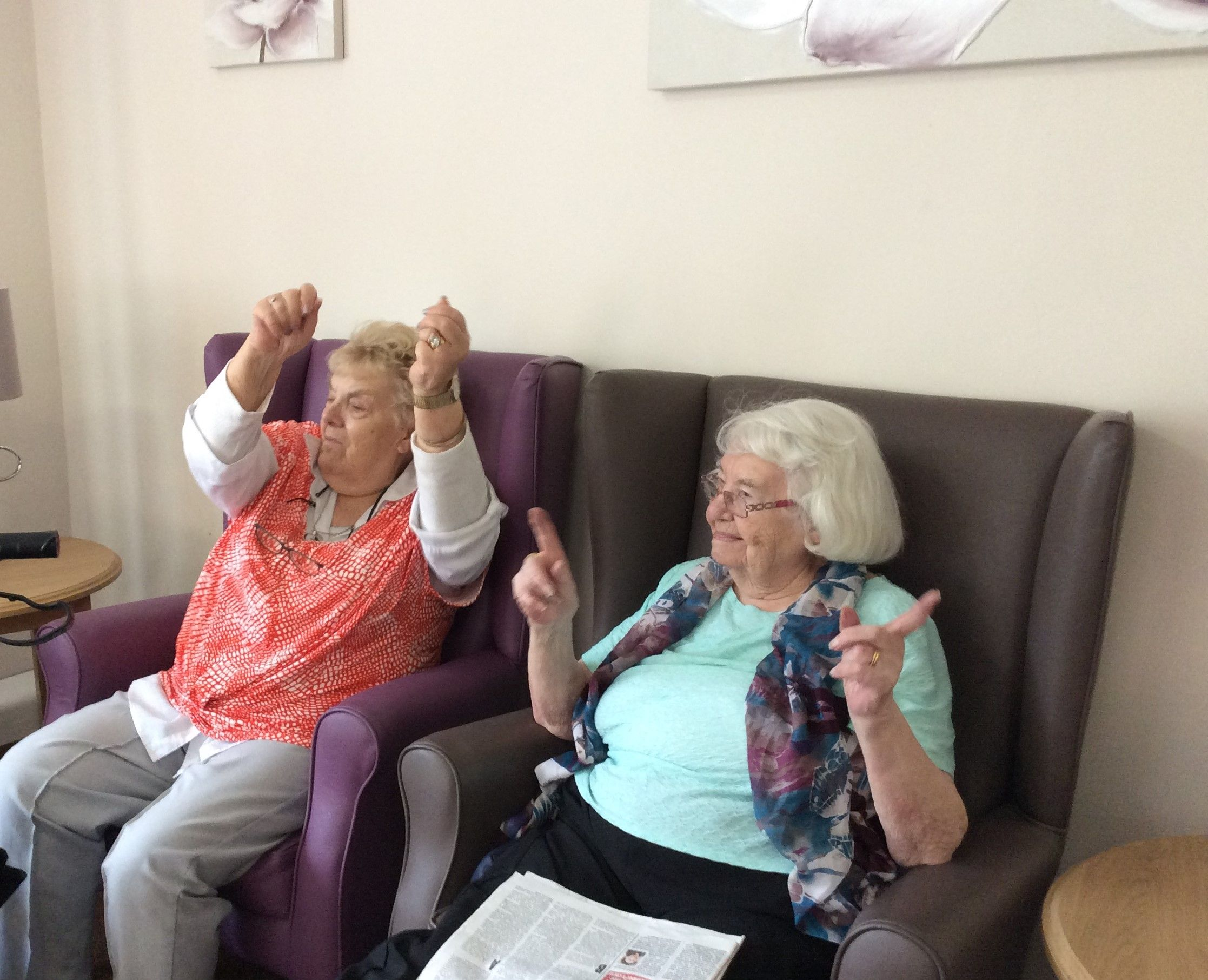 Armchair exercises - Birch Green Care Home Skelmersdale