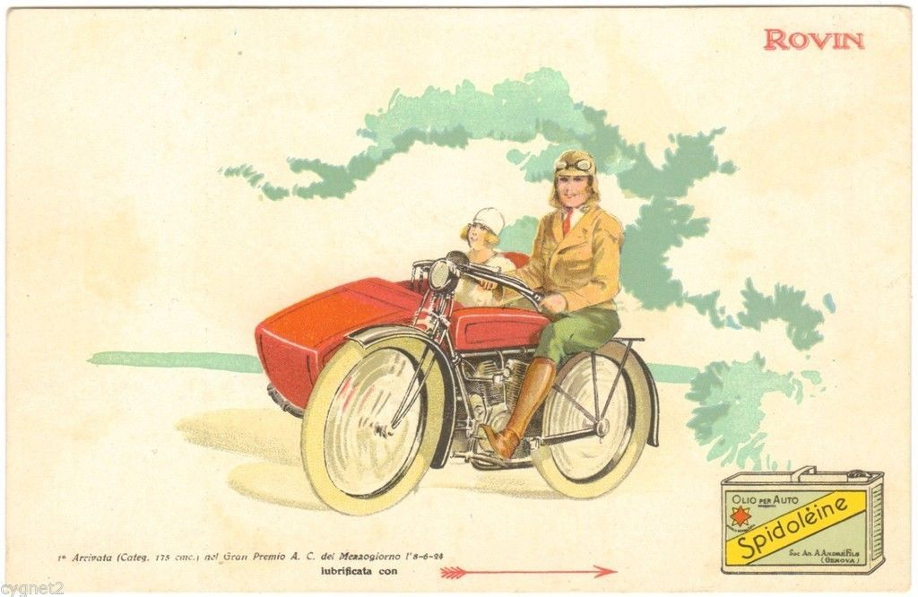 Postcard Italy Spidoleine Oil Motorcycle Rovin Ebay With Images Motorcycle Postcard Italy