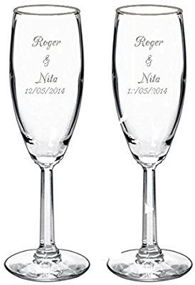 Gifts Infinity 2 Engraved Wedding Flutes Personalized Toasting Gles Gl Champagne