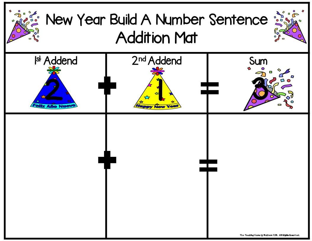 New Year Build 2 Addend 0 20 Addition Amp Subtraction Number