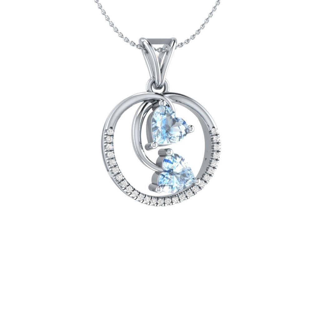 160 ct real heart aquamarine w diamond 10k white gold circle 18 160 ct real heart aquamarine w diamond 10k white gold circle 18 pendant aloadofball Choice Image