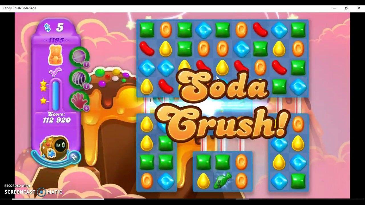 Candy Crush Soda Saga Level 1195 Hard Level with Daily