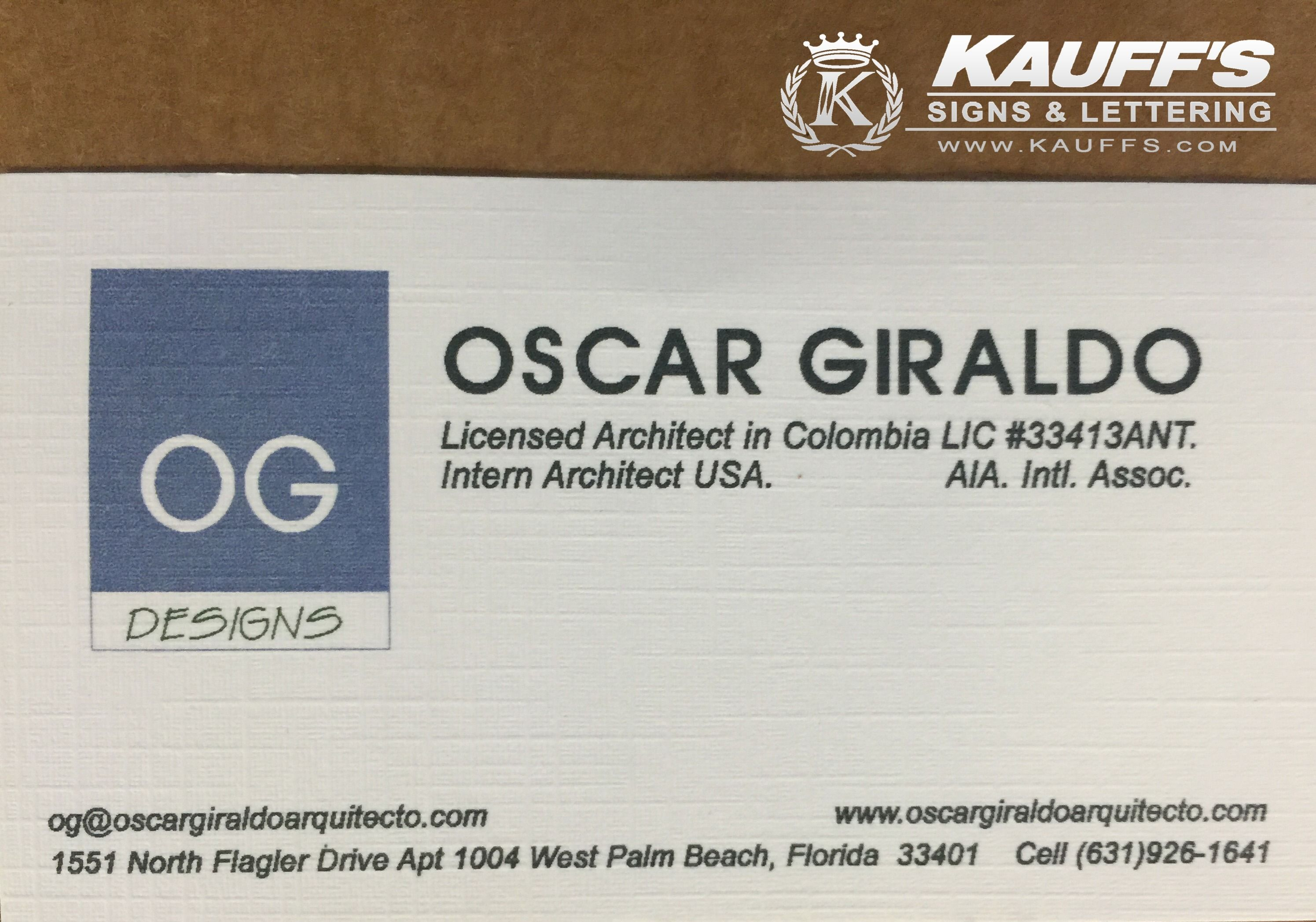 Come visit us for business cards. We have a large selection to choose from! Check out this beautiful classic linen business card! #KauffsPrinting #BusinessCards #SouthFloridaPrinting #Kauffs