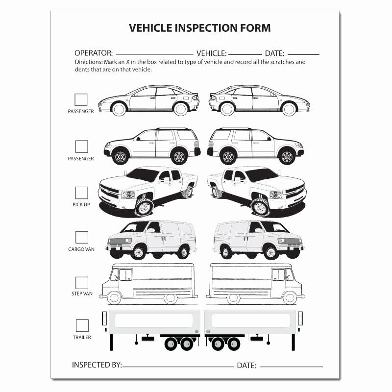 Truck Inspection form Template Inspirational Automotive