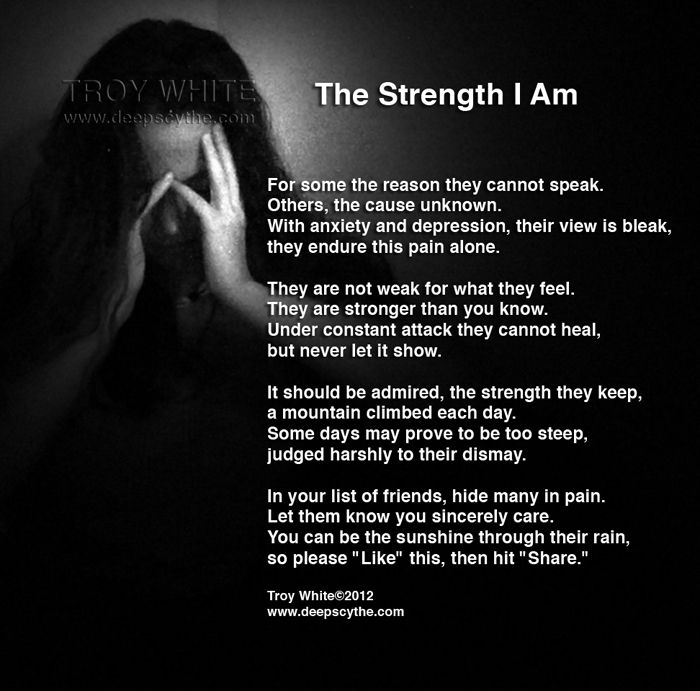 The Strength I Am - those who have ever experienced anxiety and ...