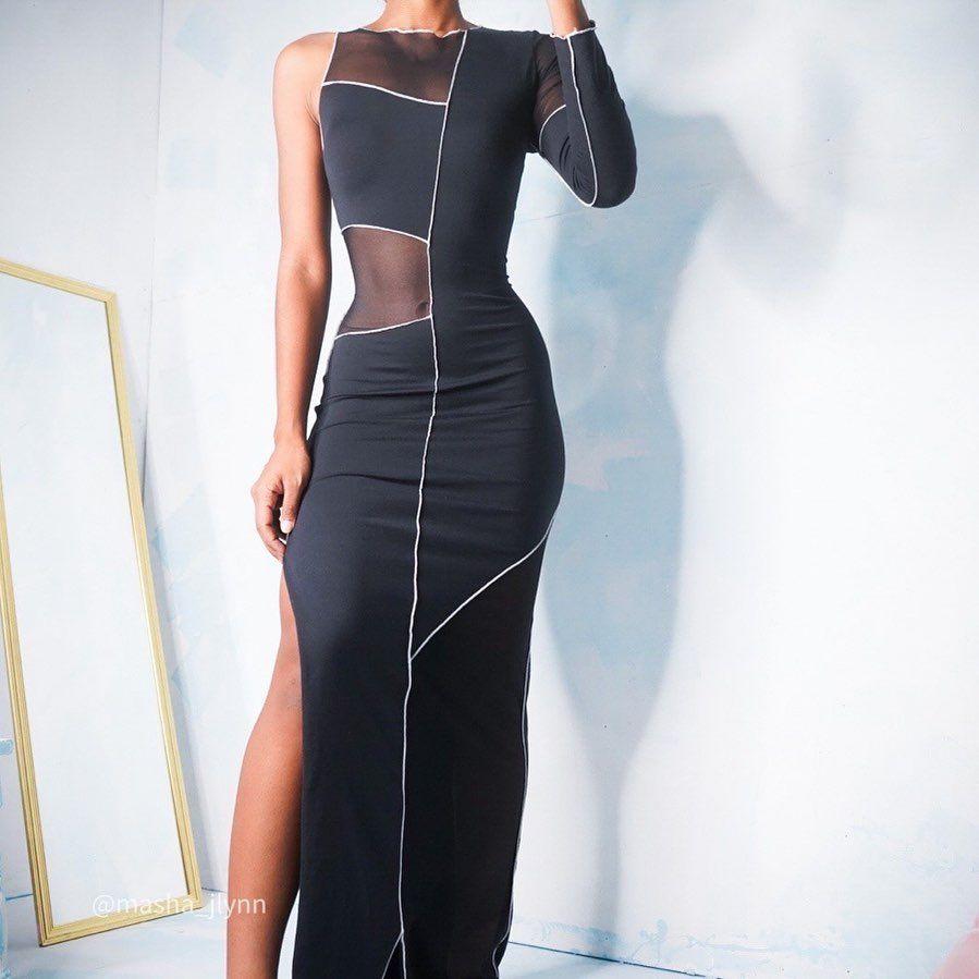 Masha Jlynn Masha Jlynn Posted On Instagram 90 S Topstitch Mesh And Jersey Dress Now Online Size S Sold Aug 2 2020 At 3 09am Utc [ 899 x 899 Pixel ]
