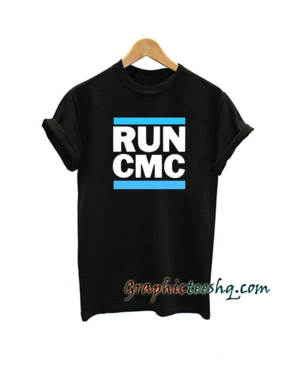 RUN CMC Carolina Panthers Tee Shirt