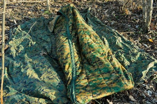 Aka Woobie Marpat Coyote Reversible The New Usmc Enhanced Poncho Liner With 2 Way Double Sided Pull Tab Allows Sleeping Bag To Be Opened