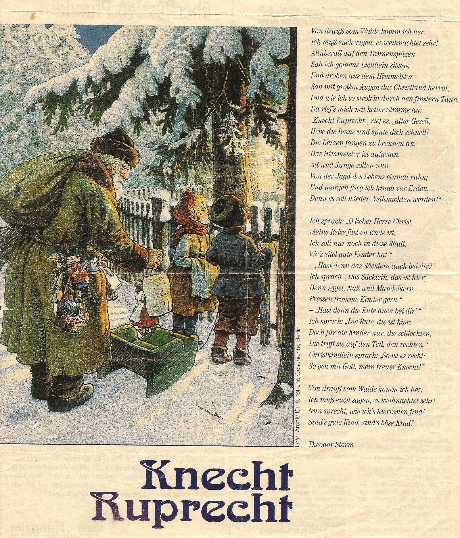 Knecht Ruprecht I Love It Weihnachten Film Gedicht Weihnachten Liebe Weihnachten
