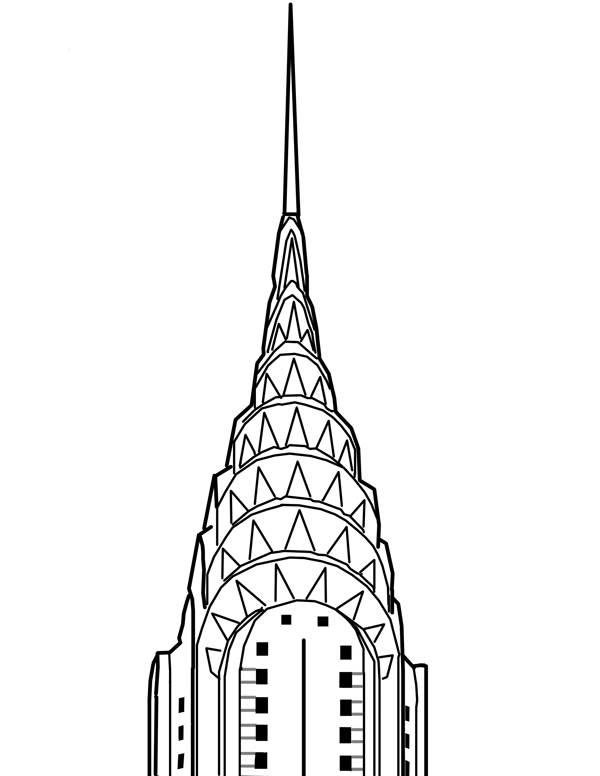 chrysler building drawing - Google Search | Tattoo ideas ...