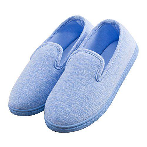 BUYITNOW Women Comfort Plush Cozy Home Slippers Non Slip