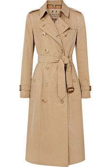 Burberry - The Chelsea Long cotton-gabardine trench coat   clothes ... 684d9e7555a