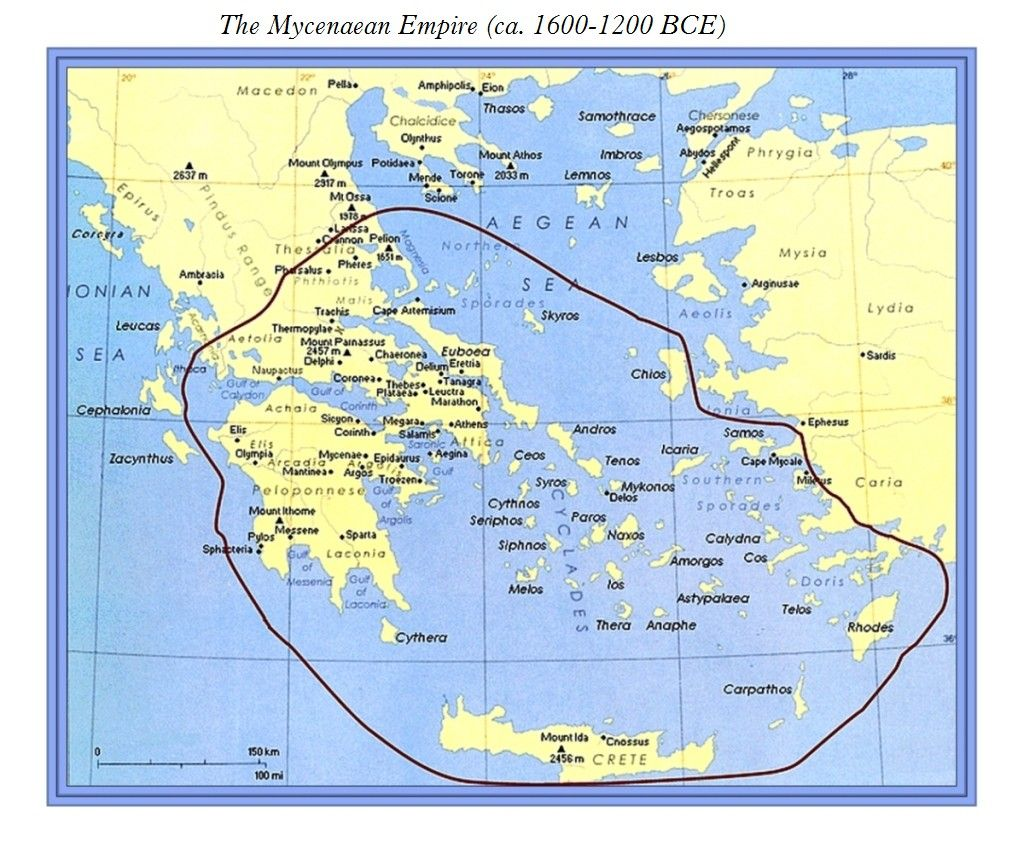 A Series Of Maps Of The Minoan Mycenaean Empires Part B 4