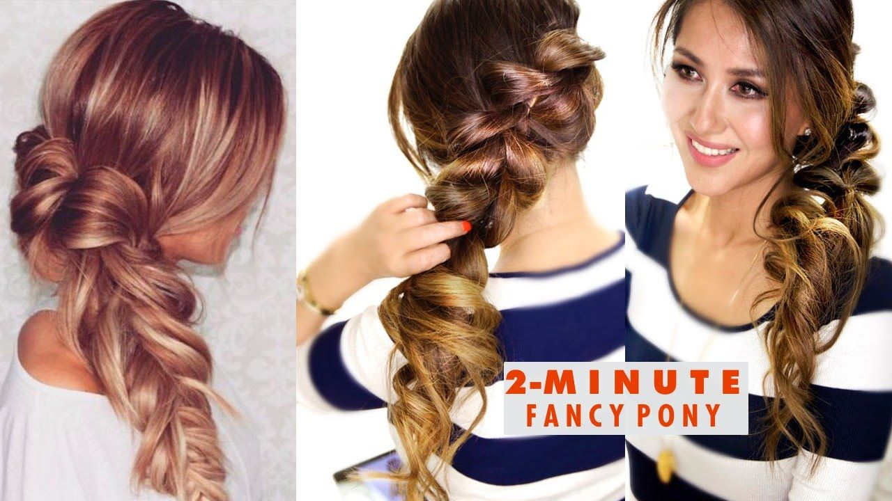 Easy 2 Minute Hairstyles For Long Hair Hairstyles For Long Hair