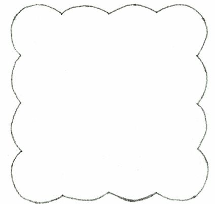 Scalloped Frame Applique Template Misc Penny Rug