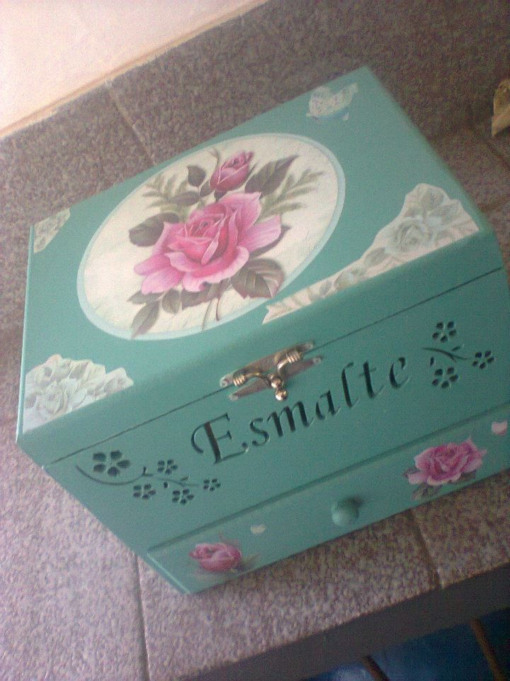 caixa de esmalte mdf