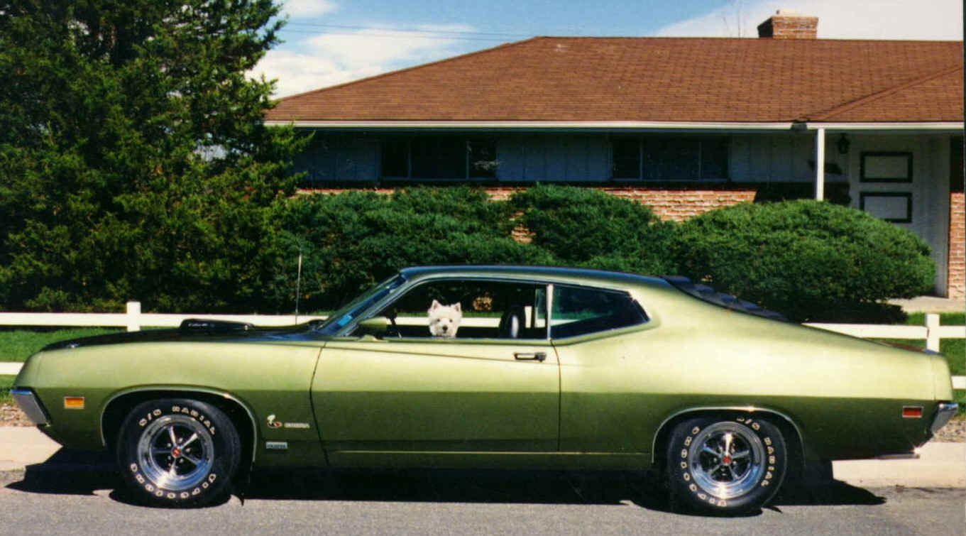 1970 ford torino 429 super cobra jet classic cars grandma morgan had a ford torino this same color but it sure didn t have the tires and air scoop i loved riding in that car it had black cloth seats that