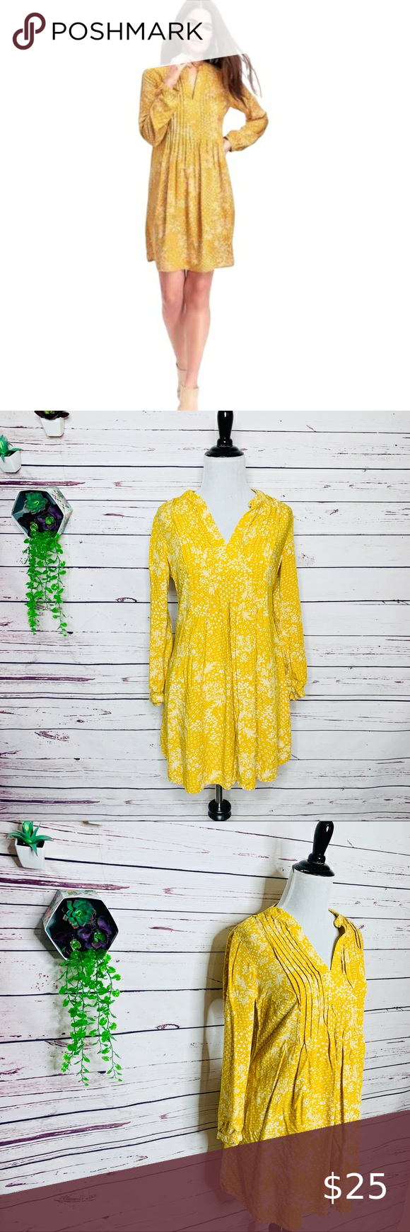 Old Navy Pintuck Long Sleeve Swing Tunic Dress Xs Yellow Dress Summer Swing Tunic Dress Yellow Dress Outfit Summer [ 1740 x 580 Pixel ]