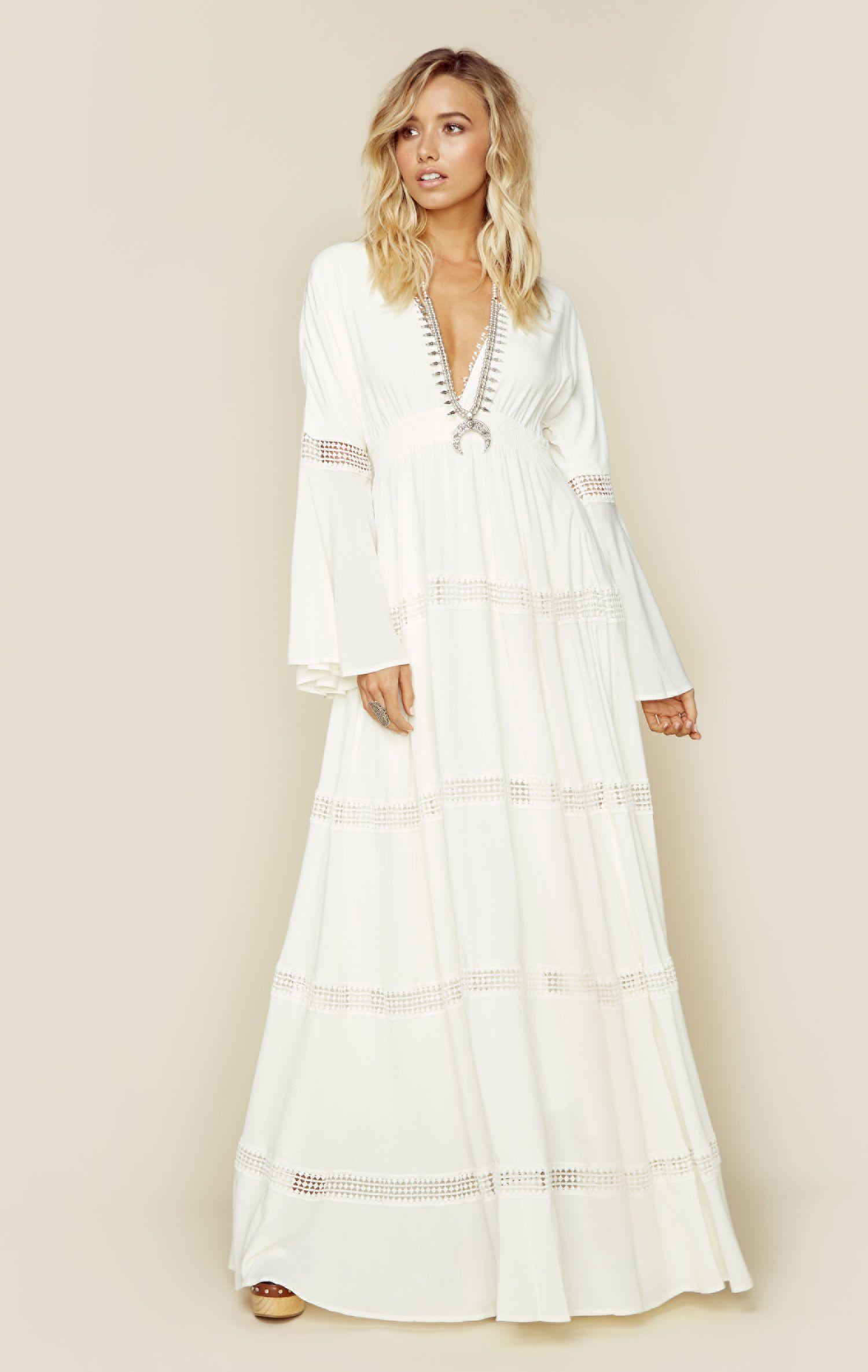 Hammock maxi dress full length skirts plunging neckline and maxi
