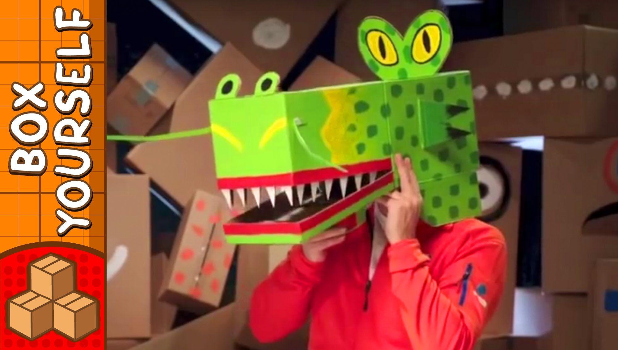 Cardboard Dragon Mask Crafts Ideas For Kids Diy On Boxyourself Diy For Kids Masks Crafts Mask For Kids