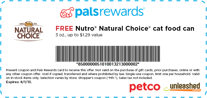 Free Can Of Nutro Cat Food Coupon From Petco Pro Plan Dog Food Purina Pro Plan Dogs Cat Food Coupons