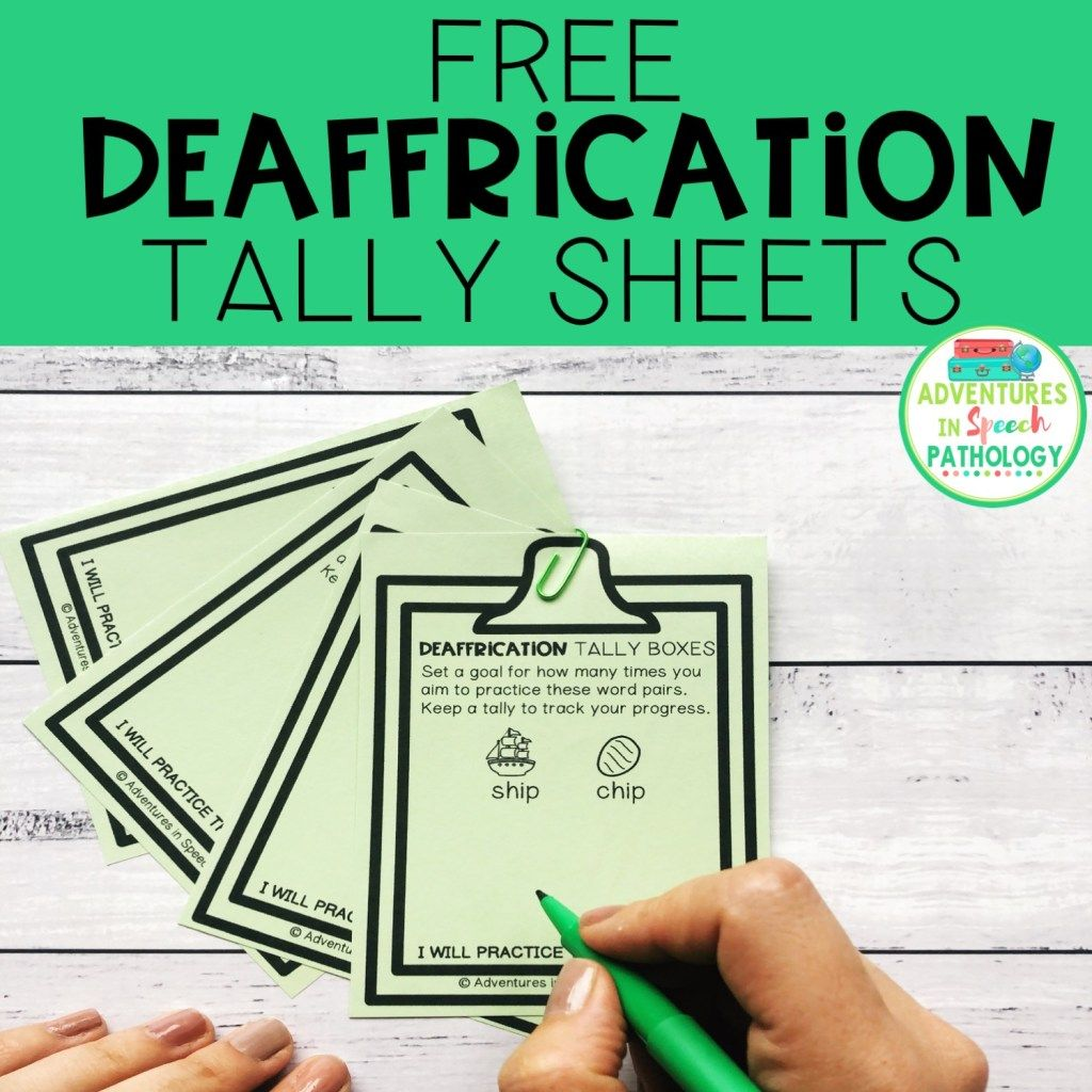 Free Deaffrication Minimal Pair Worksheets In With