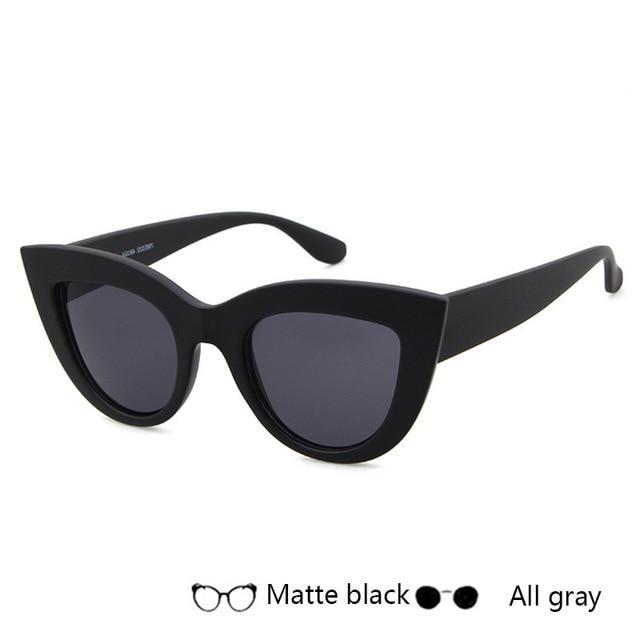 f40744feb7 Fashion Cat Eye Sunglasses Women Vintage Sun Glasses Wide Frame Glasses  Brand Designer Sexy Girls Eyewear