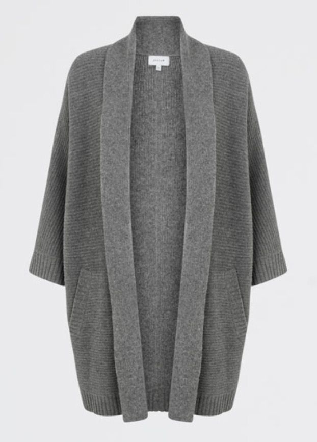 b9eddcedf3dd33 Jigsaw Merino Ottoman Grey Cardigan | What I bought... | Grey ...