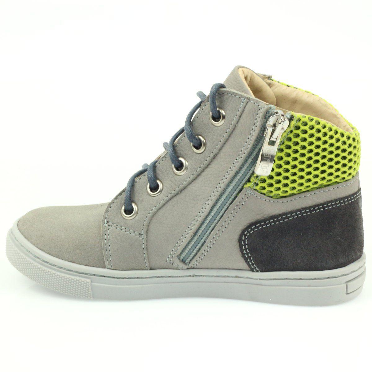 Trzewiki Jesienne Na Suwak Bartus 186 Szare Zielone High Top Sneakers Sneakers Shoes