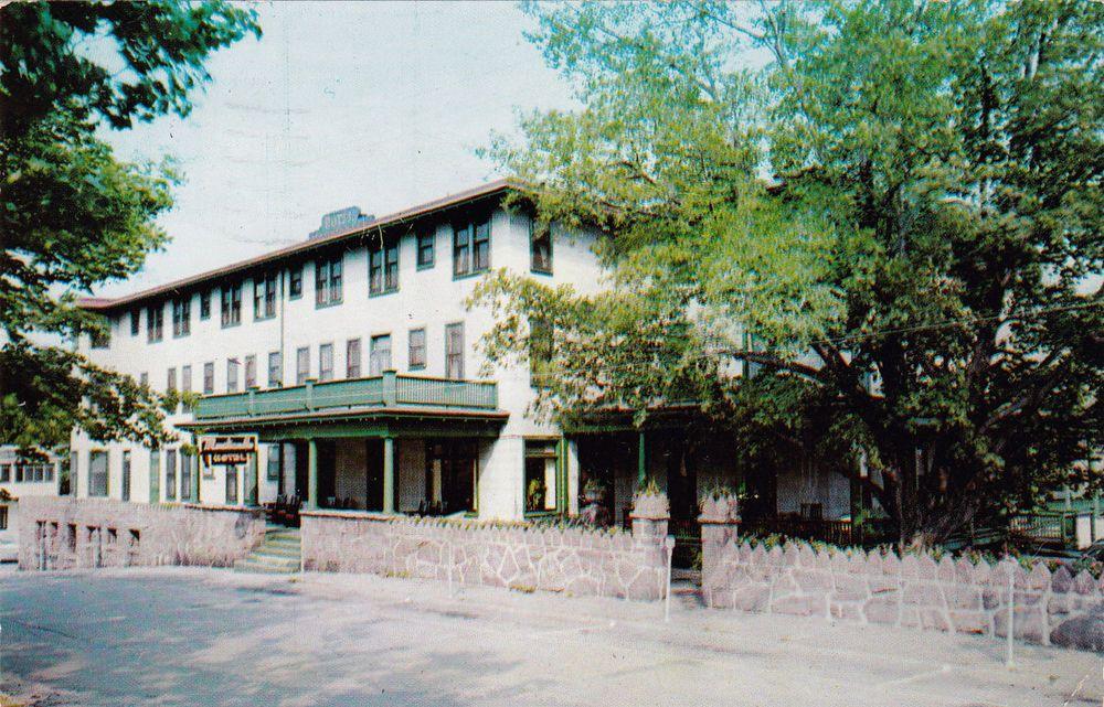 New York Alexandria Bay Monticello Hotel In 1000 Islands 1959 Vintage Postcard