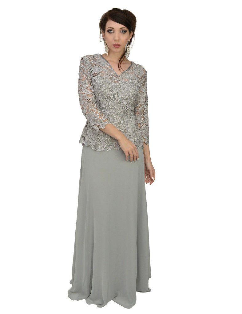 50f249e49b0 Plus Size Vintage Lace Mother of the Bride Groom Modest Long Sleeve Chiffon