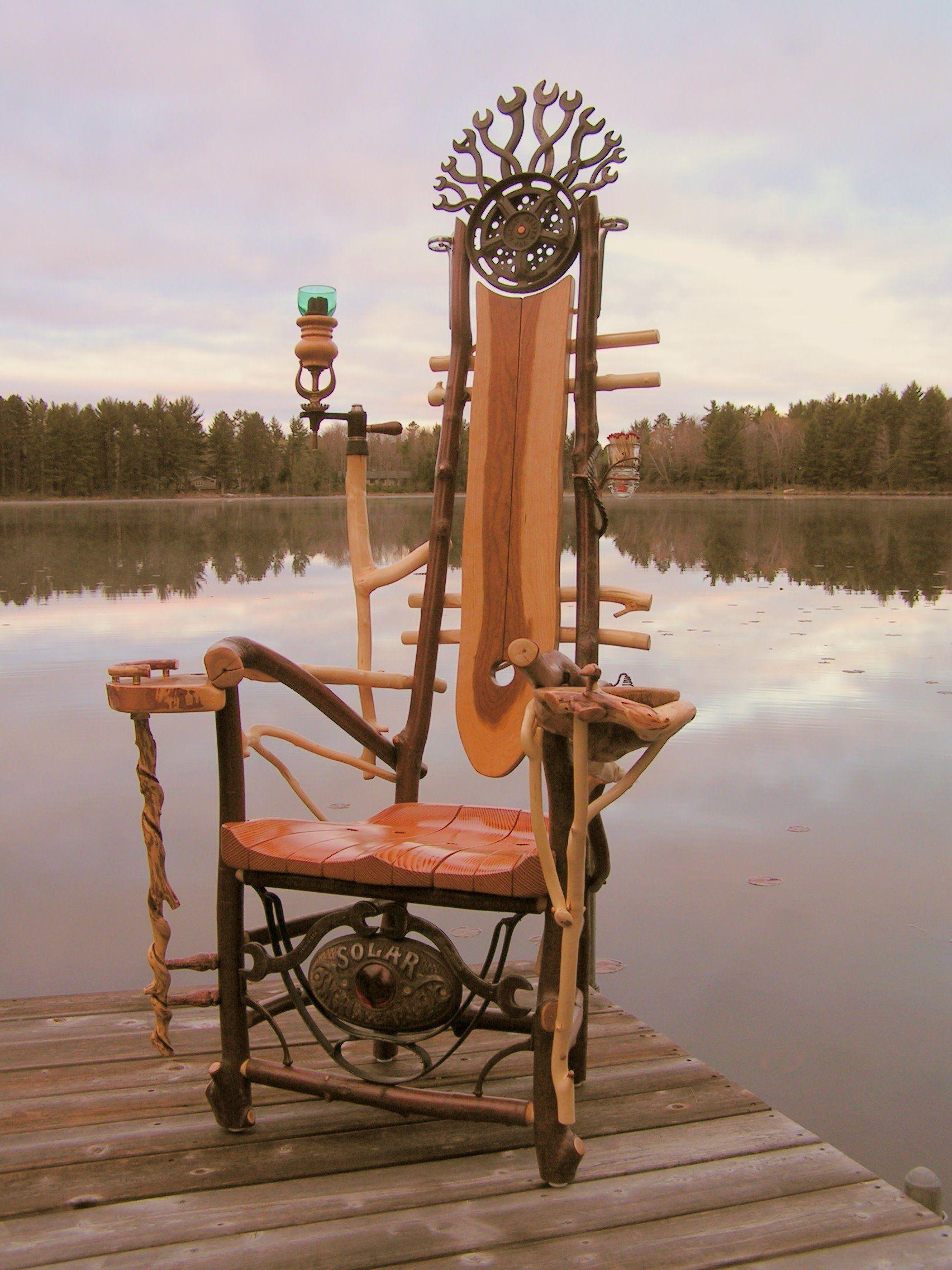Sitedelux meubles originaux pinterest fauteuil chaise et chaise fauteuil - Chaise bois flotte ...