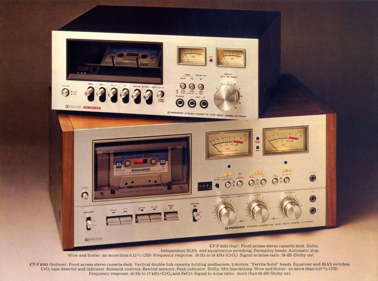 Pioneer Tape Decks: CT-F2121 (top) Black Cassette Tape Deck